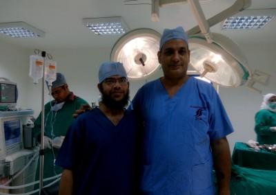 أول عملية جراحية بمستشفى برج العرب 2015