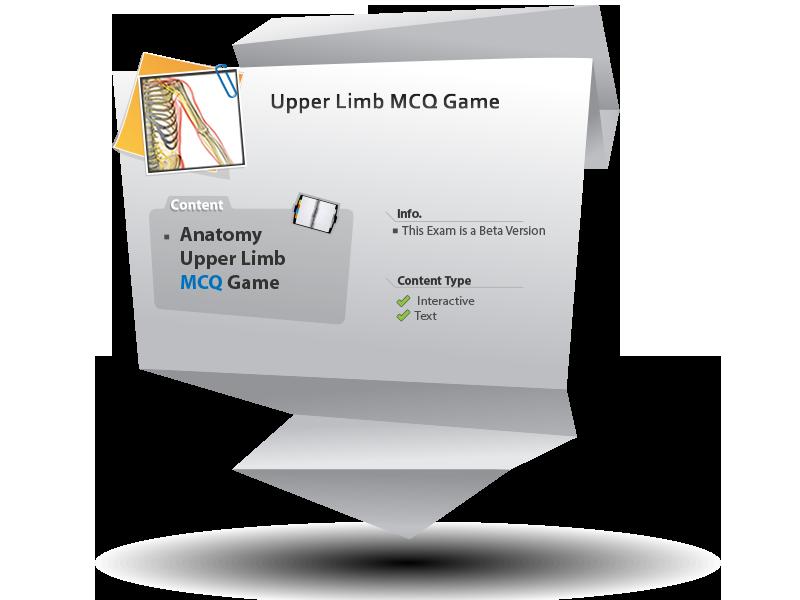 Alexandria Faculty of Medicine: Virtual Website » Upper Limb MCQ Game